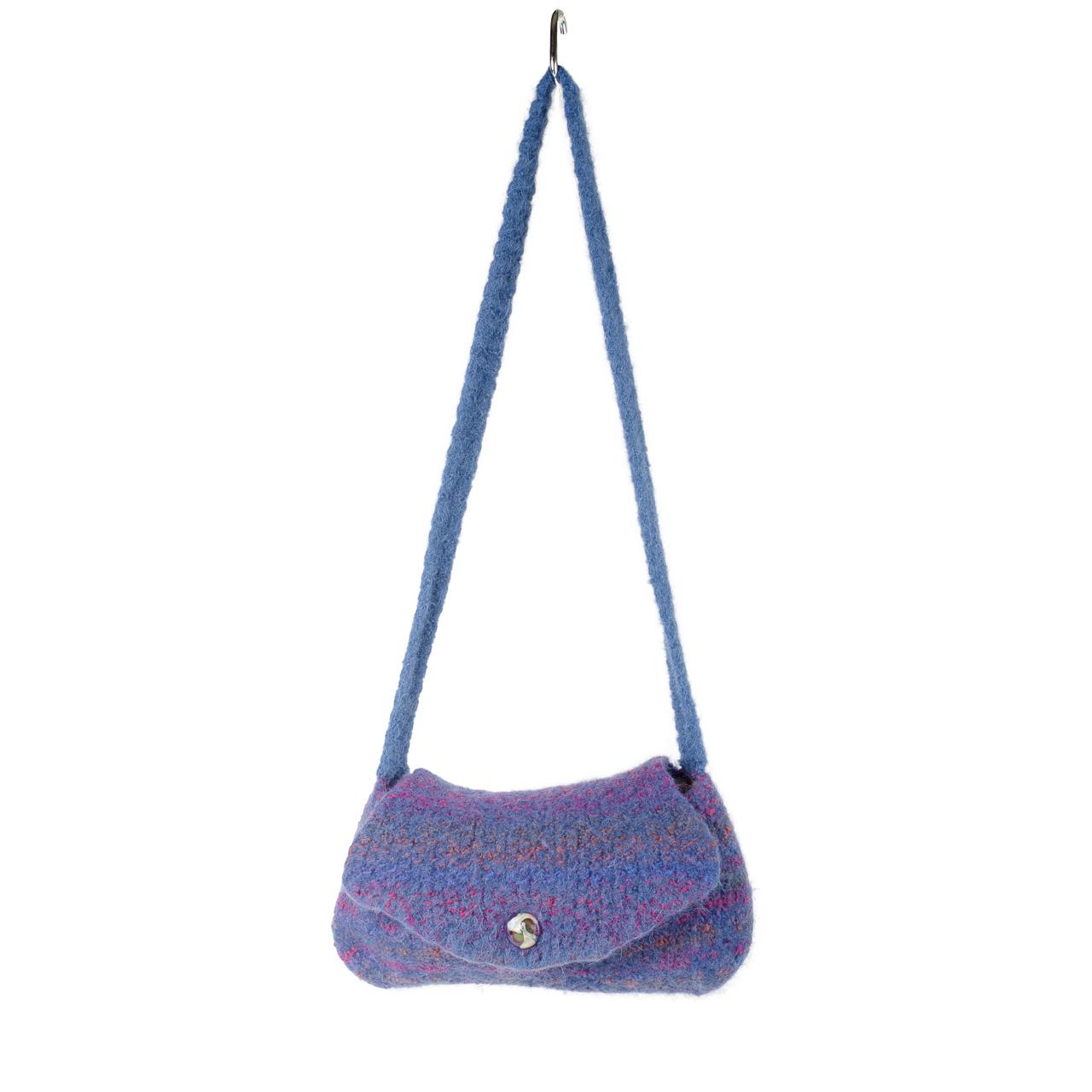 Jewel Tone Felted Shoulder Bag