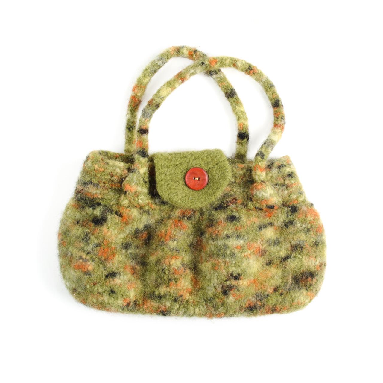 Green Felted Handbag