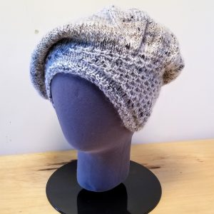 Heather Grey-Cream with Black Flecks Slouch Hat
