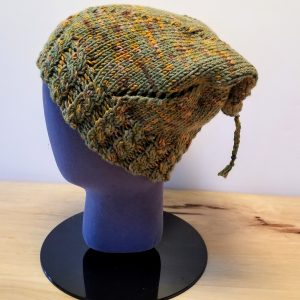 Medium Green-Brown-Apricot Variegated Swirl Slouch Hat