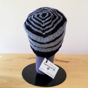 Steel Blue and Black Striped Toque