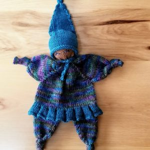 Variegated Blue/Green/Purple Infant Doll