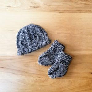 Heather Brown Infant Hat