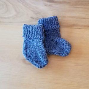 Dusky Blue Booties
