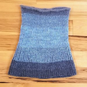 Medium Grey and Pale Blue Neck Warmer