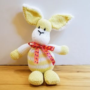 Yellow and White Striped Bunny