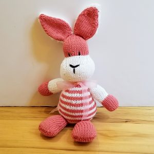 Pink and White Striped Bunny