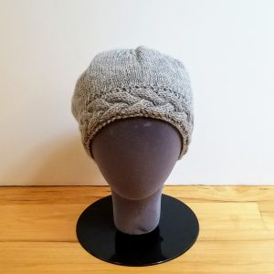 Medium Grey Hat with Cabled Band