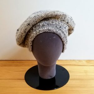 Heather Grey-Cream with Black Flecks Slouch Hat