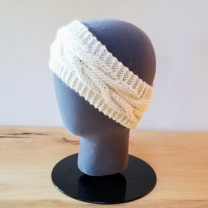 Cream Cabled Headband