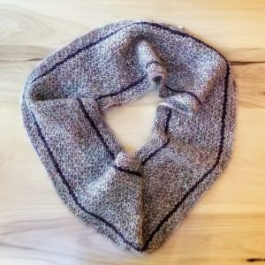Burgundy Heather with hints of Green Infinity Scarf