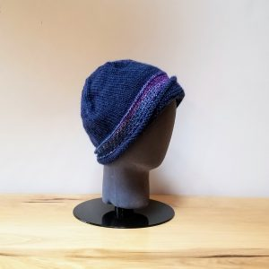 Blue Cloche with Silk Band