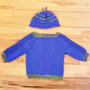 Periwinkle Infant Hat