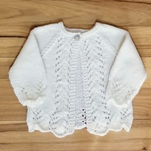 Cream Lacy Infant Cardigan