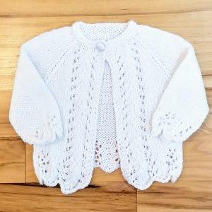 Cream Lacy Infant Cardigan