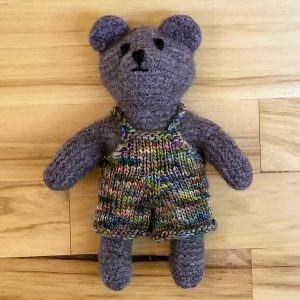 Brown Teddy with Overalls