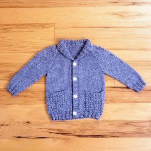 Blue Heather Infant Shawl Collar Cardigan