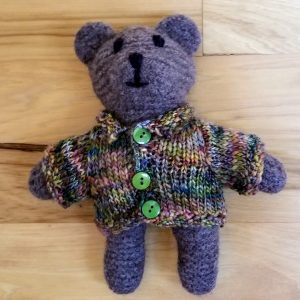 Brown Teddy with Cardigan