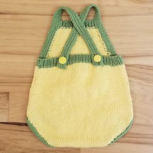 Yellow with Green Trim Romper