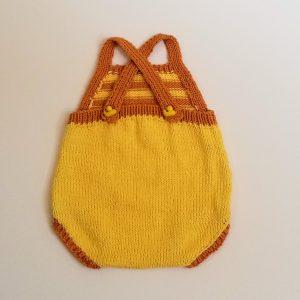 Yellow with Orange Stripe Romper