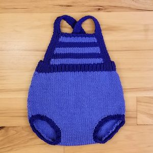 Periwinkle Blue with Royal Blue Stripes Romper